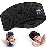 Schlafkopfhörer Bluetooth 5.2, Schlaf Strinband Kopfhörer Headband Schlafmaske, kabellose Sportskopfhörer Musik schlafen Stirnband für Sport Training, Joggen, Yoga, Schlaflosigkeit, Reisen (schwarz)