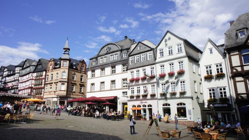 Bild vom Marburger Marktplatz