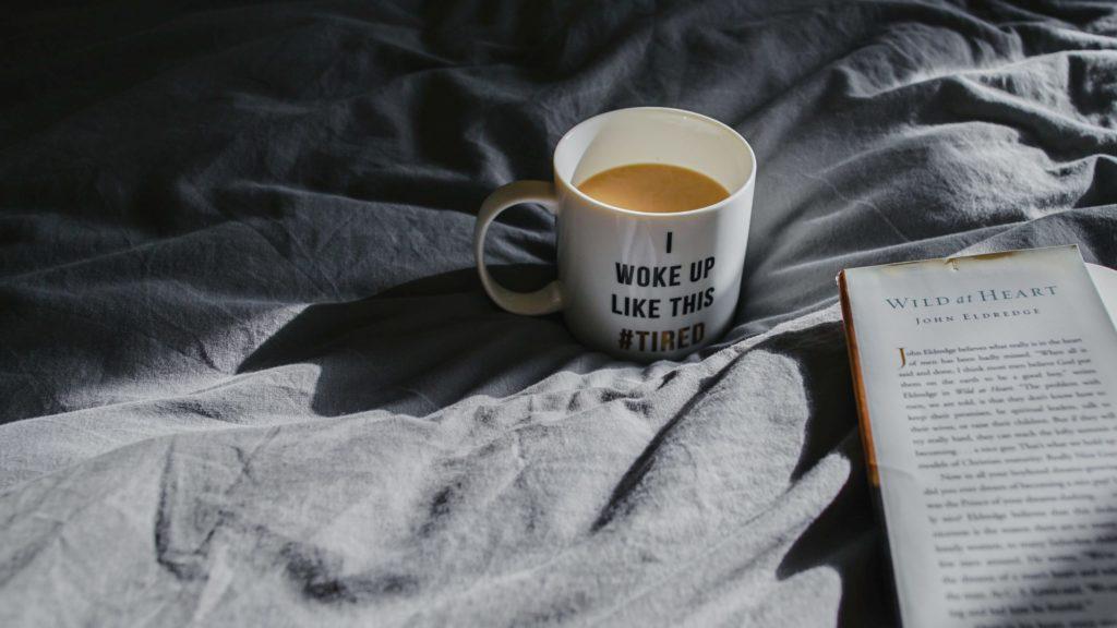 Tasse Kaffee zum wachwerden