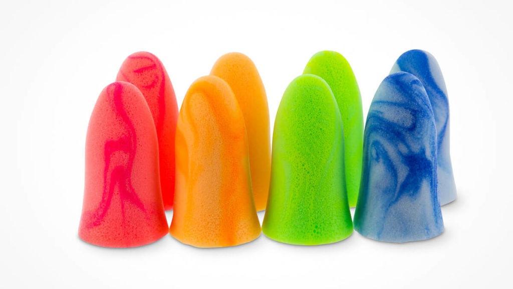 Verschiedenfarbige Ohrstöpsel