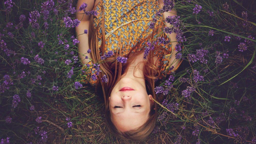 Schlafen im Lavendel