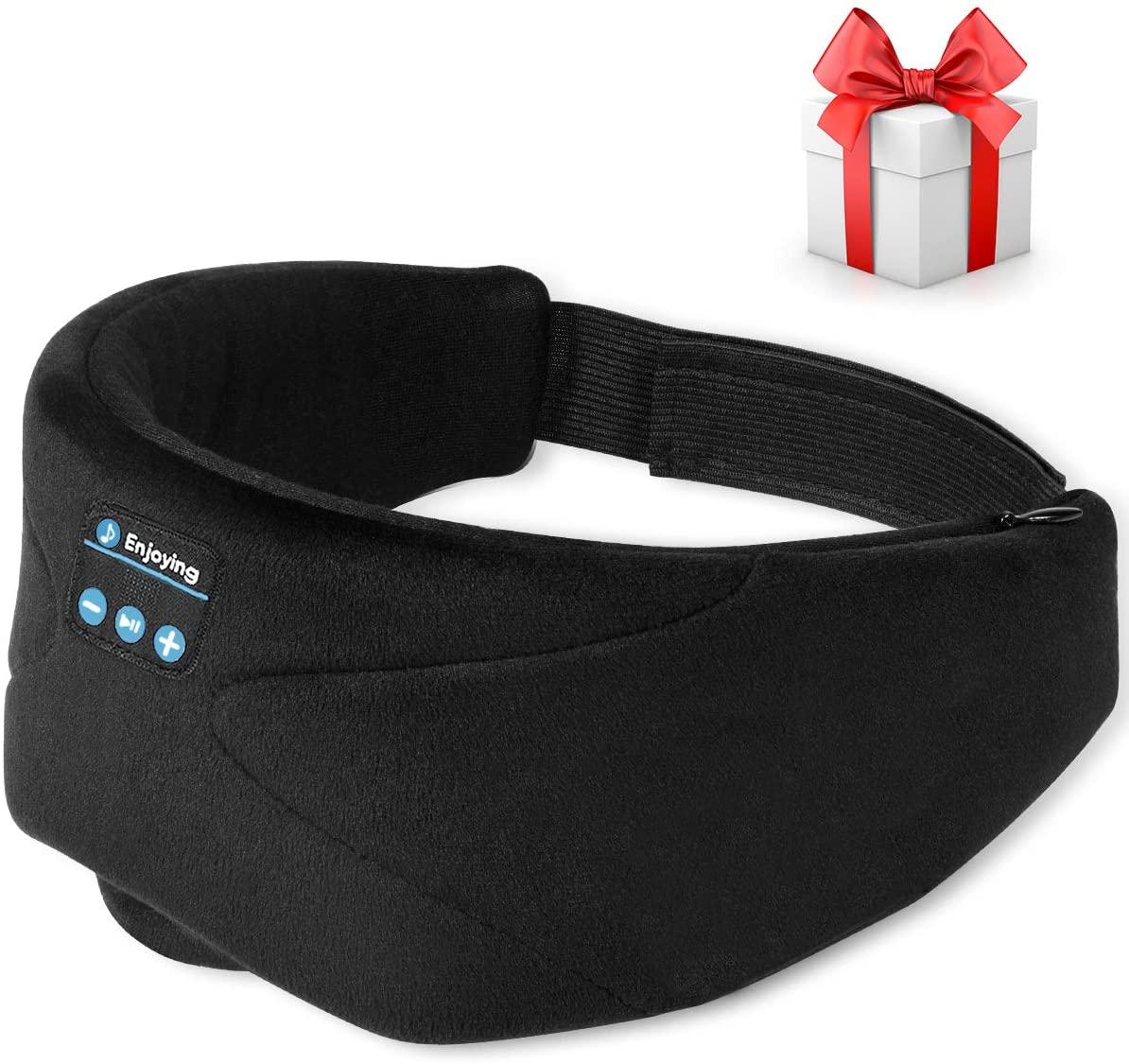 Schlafmaske mit Kopfhörer einfach