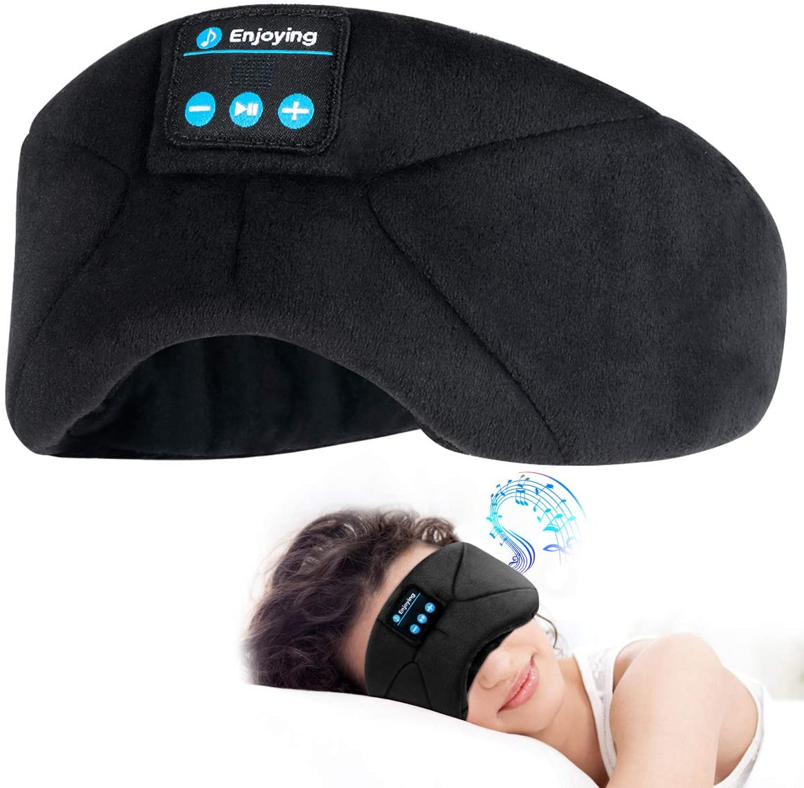 Schlafmaske mit Kopfhörer hochwertig