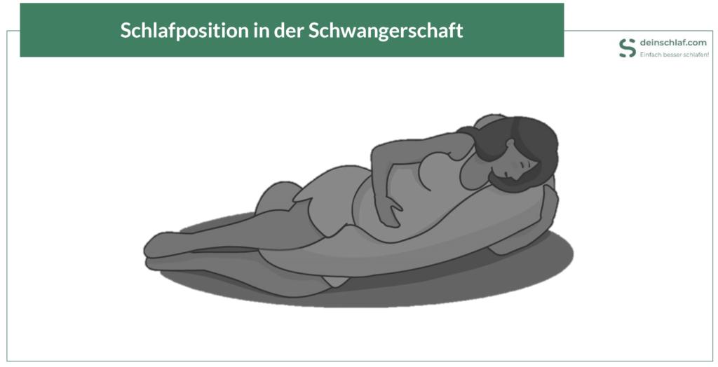 So sieht die richtige Schlafposition in der Schwangerschaft aus